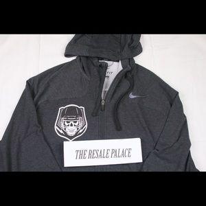 Nike rare charcoal Grey hoodie skull head XXL